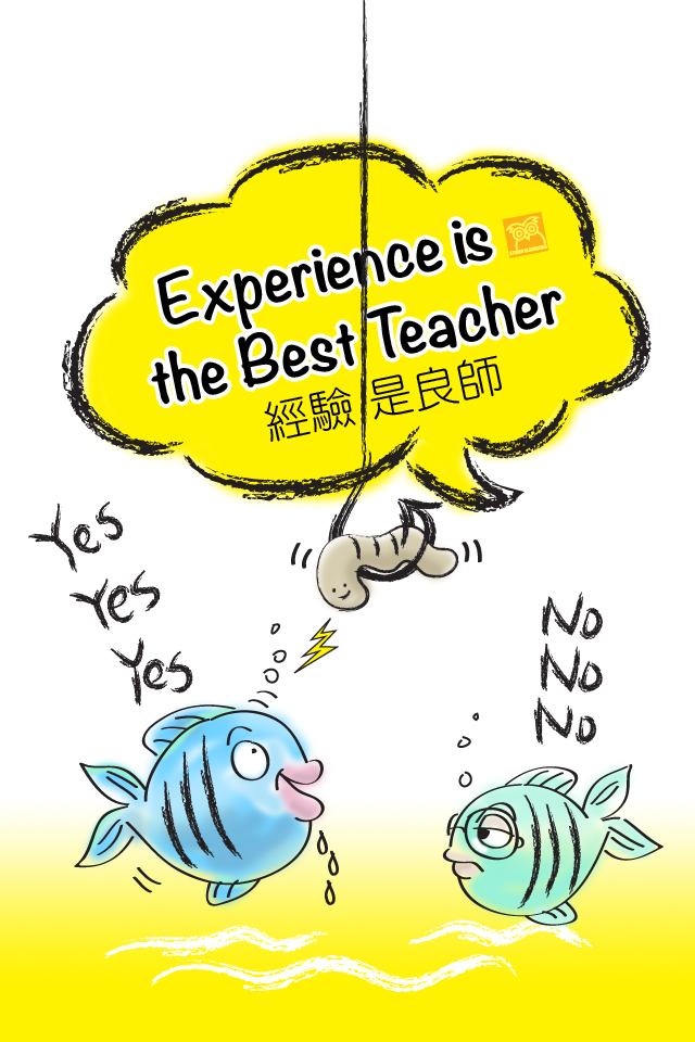 Experience is the best teacher.
