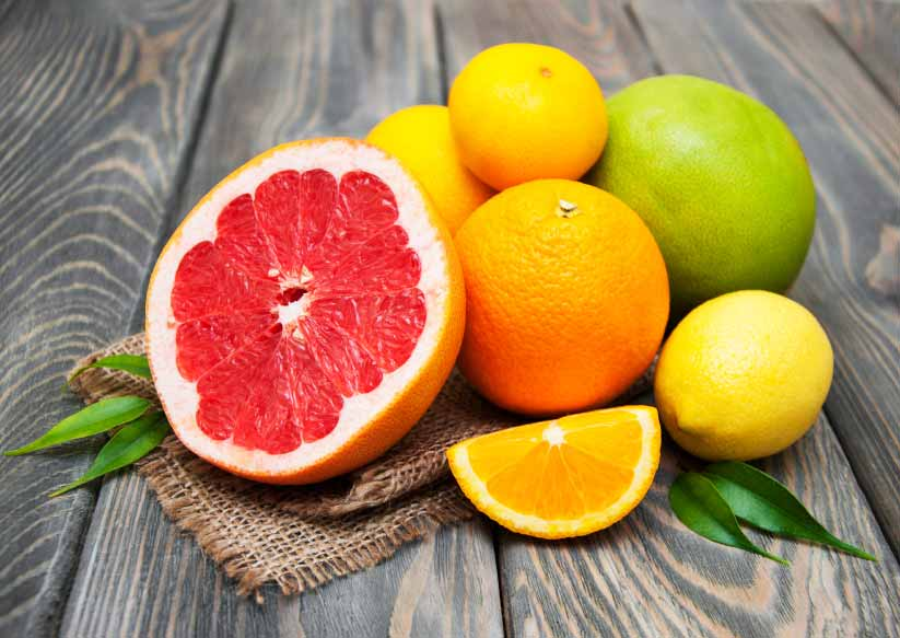 The grapefruit was an accidental cross between a pomelo and orange in Barbados in the 1700s.