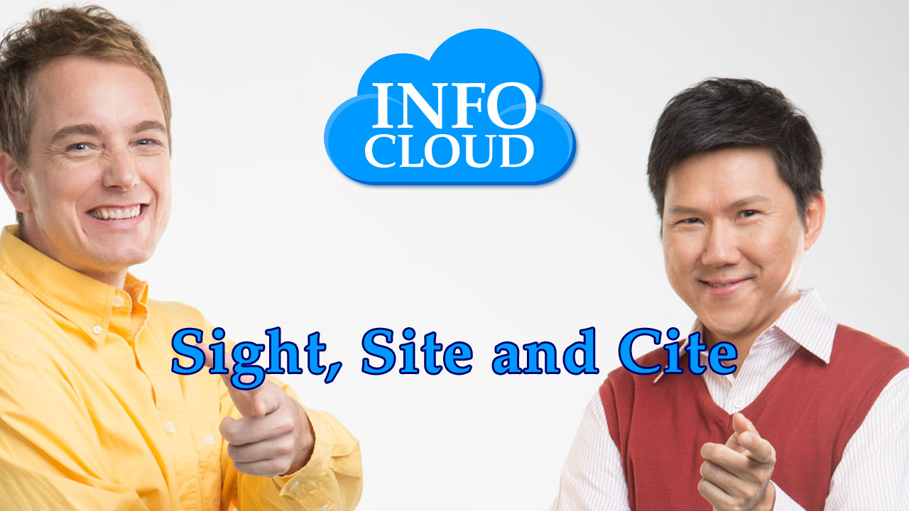 【InfoCloud】Sight, Site and Cite