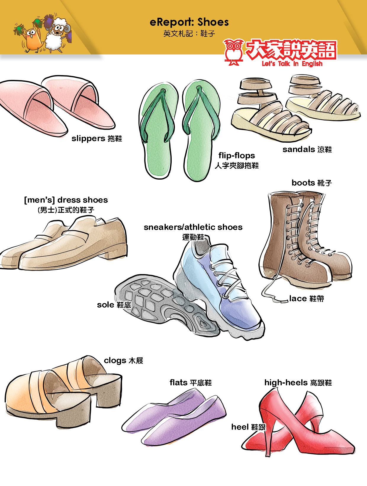 【Visual English】eReport:Shoes