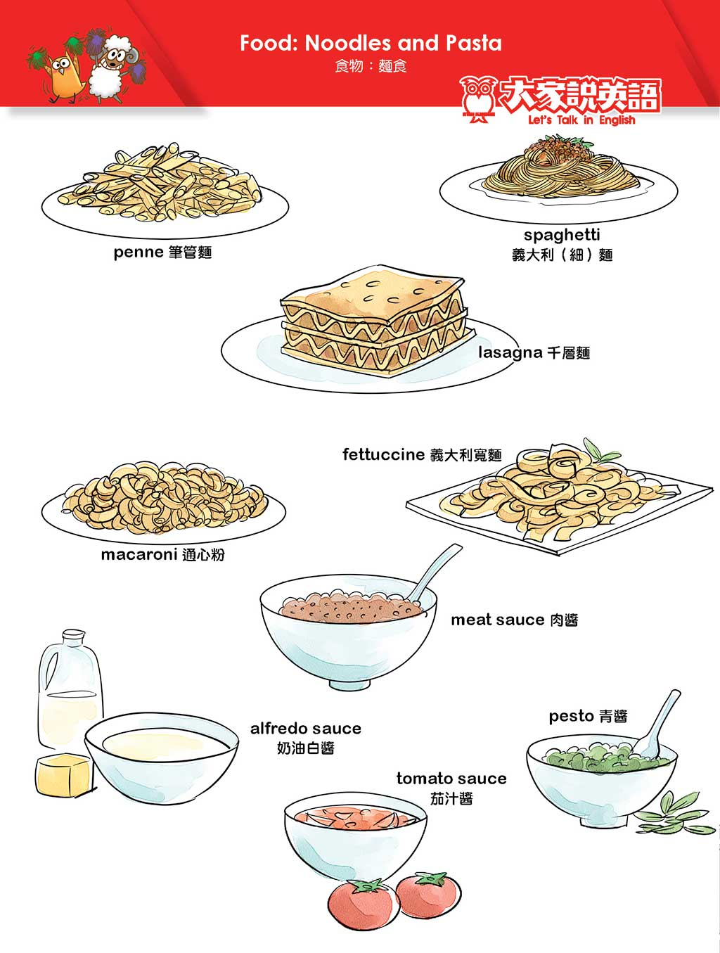 Food: Noodles and Pasta