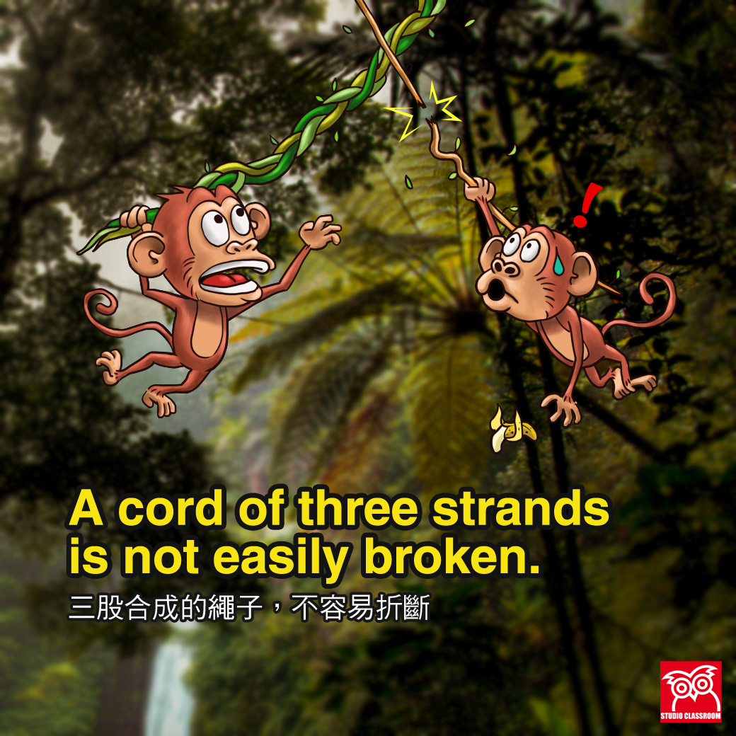 A cord of three strands is not easily broken