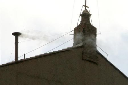 White smoke proclaims Francis of Argentina as the new pope.
