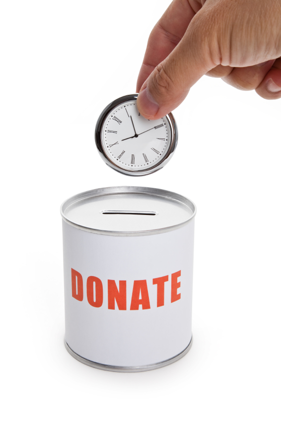 What ways could you donate your time to help the ...